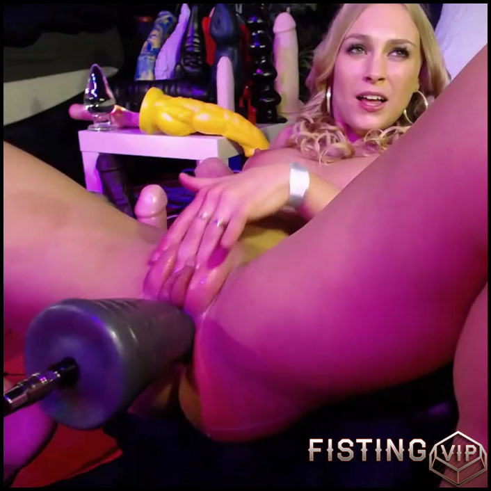 Fucking Machine Pyramide Dildo Driller Her Asshole - Siswet19 - Teen Fisting