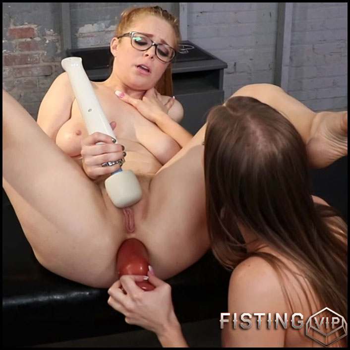 Huge Strapon And Huge Dildo Lesbians - Britney Amber and Penny Pax - Long Dildo