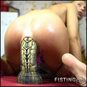 Penetration New Monster Cobra Dildo In Her Gaping Asshole – Siswet19 – Dragon Dildo