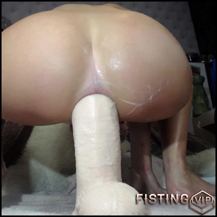 Show Her Anal Rosebutt And Creampie After Monster Dildo Sex - Siswet19 - Huge Dildo