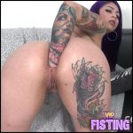 Tattooed Fatty Girl Double Penetration With Fisting – Nury Forero – Solo Fisting