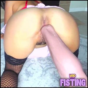 Hairy Pussy Girl Gets Really Monster Dildo In Doggy Style Pose – Colossal Dildo