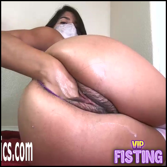 Horny Girl Hairy Pussy Prolapse Stretched With Monster Bad Dragon Dildo
