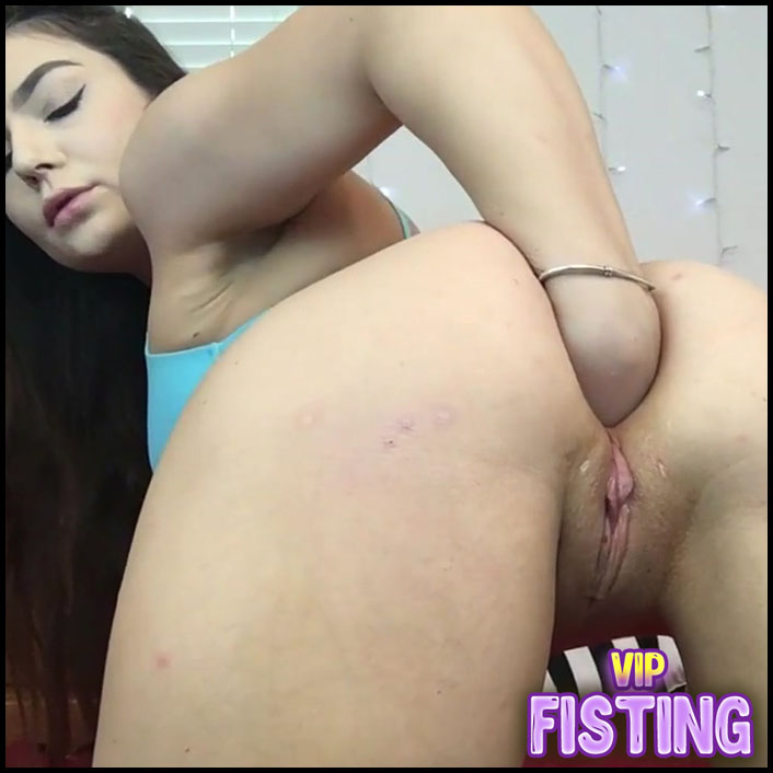 Very Exciting Big Ass Teen Long Dildo Fully Insertion In Gape After Fisting - Lexalite