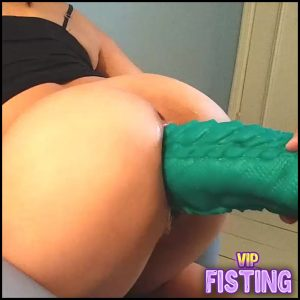 Monster Bad Dragon Dildo And Fist Penetration In Wifes Anal – Mature Fisting, Dildo Anal