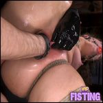 Bondage Gets Fisted With Rubber Glove – Victoria Voxxx – Pussy Fisting