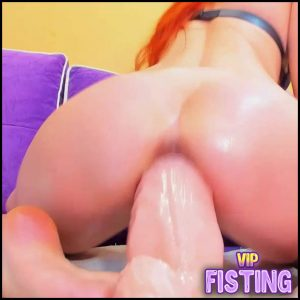 Big Ass Redhead Girl Epic Dildo Fully In Her Sweet Pussy – Moonchristine – Monster Dildo