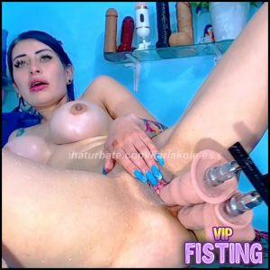 Silicone Tits Spanish Teen Double Fucking Machine Sex – Karlakole – Double Dildo