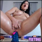 Big Tits Brunette MILF Bad Dragons And Double Dildos Penetration Herself – Double Dildo