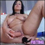 Big Tits Horny Brunette Try Double Huge Dildos Sex – Double Dildo