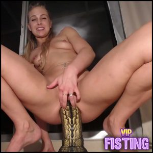 Cute Blonde Teen Insertion Two Monsters Dildo In Her Ruined Anal – Siswet19 – Colossal Dildo