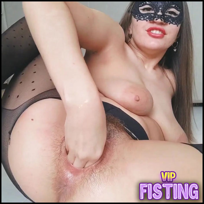 Hairy Girl Big Black Dildo Penetration And Try Fisting Sex - Fallen Angel