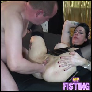 Creampie Gangbang With Fisting Amateur – Adeline Lafouine – Anal Fisting