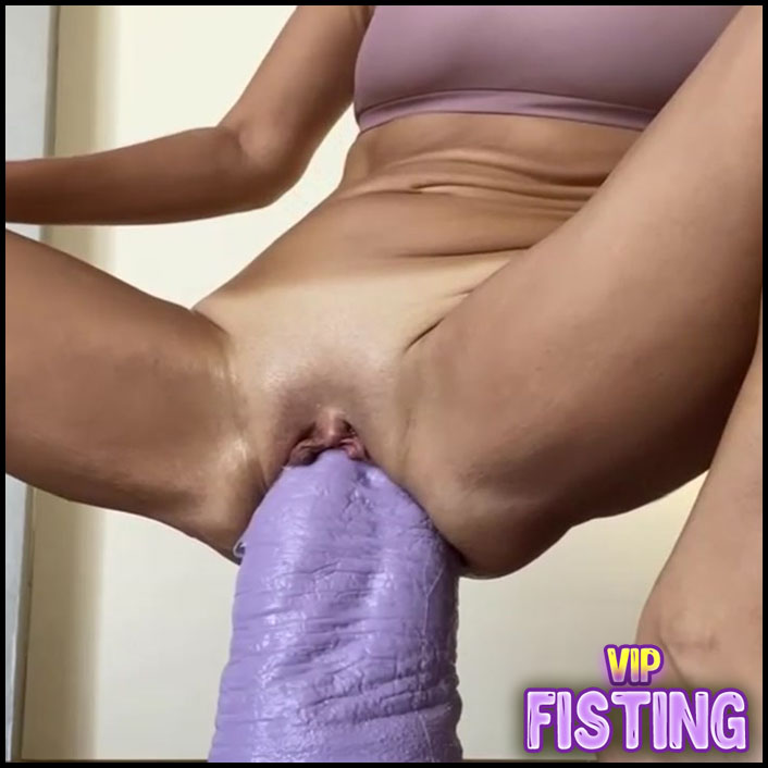 Incredible Size Rubber Bad Dragon Dildo Deep In Pussy My Skinny Wife