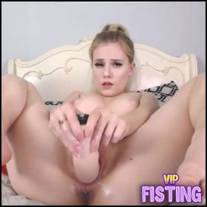 Cute Big Tits Blonde Penetration Dildo In Wet Pussy – LenaSpanks – Huge Dildo