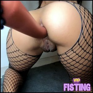 Kinky Hairy Pussy Masked Girl Iron Ball and Long Knot Dildo Deep Anal – Dildo Porn
