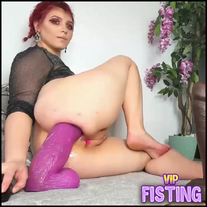 Redhead Pornstar Monster Pink Dildo Penetration in Ass With Pain - Hoot_Andreeaxxx