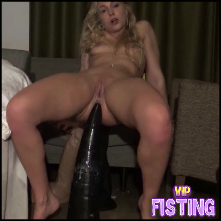 Webcam Blonde Teen Monster Size Tower Dildo Deep in Prolapse Anal - Siswet19