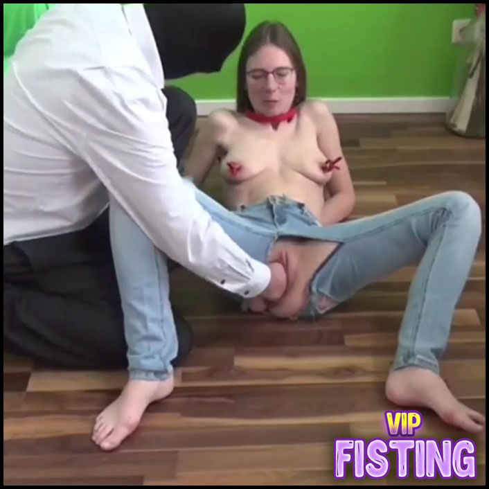 German Pornstar Gets Pissing and Fisting Domination From Masked Male