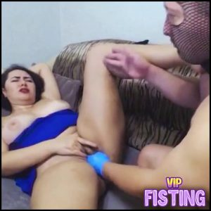 Masked Male Fisting Domination His Fatty Russian Wife NataliaRichX – Pussy Fisting