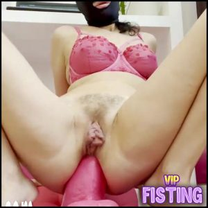 Masked Large Labia Pornstar Ruined Anal Prolapse After Rough Anal Dildo Riding – Monster Dildo