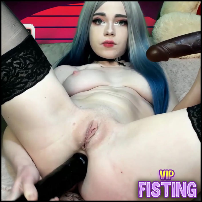 Perverse Teen Anal Gape and Deepthroat Loose With Dildo - Swetty-Pie