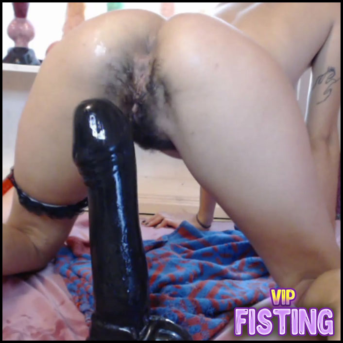 Crazy Teen Girl With Hairy Pussy Try New BBC Dildo in Her Big Anal Gape - Pipaypipo