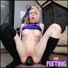 Amateur Russian Big Tits Blonde BBC dildo Anal Rides Extreme -  Dismoralica